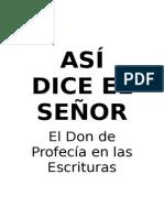 ASÍ DICE EL SEÑOR