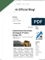 Implementasi Komunikasi Terintegrasi PT Adaro Energy, Tbk