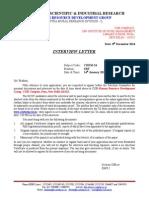 Interview Letter for SRF Mail CHEM-24 14 JAN 2015