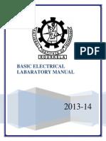 Electrical Lab Manual