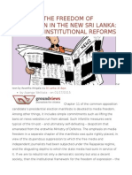 Securing the Freedom of Expression in the New Sri Lanka Essential Institutional Reforms
