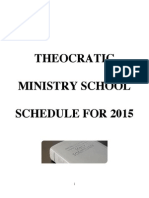 TMS SCHEDULE for 2015 With References