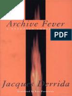 Derrida, Archive Fever