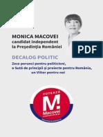 Decalog Politic Monica Macovei