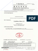 Sigma Type Approval Certificate