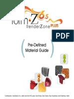 FormZ RZ - Predefined Material Guide