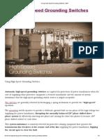 Using High-Speed Grounding Switches _ EEP