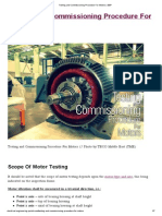 Testing and Commissioning Procedure for Motors _ EEP