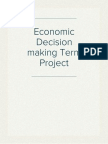 Economic Decision making Term Project