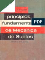 Principios Fundamentales de Mecánica de Suelos - Donald W. Taylor