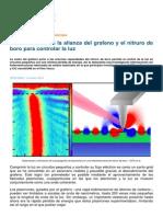 Nuevo Avance en La Alianza Del Grafeno y El Nitruro de Boro Para Controlar La Luz