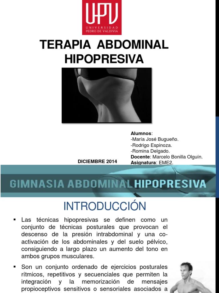 Terapia hipopresiva abdominal