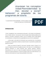 Ensayo para un seminario de modernidad-posmodernidad y educación