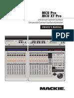 Mackie MCU Pro Manual