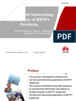 02-Services and Networking Application of MSTP+ Products
