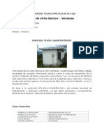Informe de visita técnica –  Ventanas