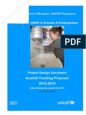 Wash Design Document Pd | Sanitation | Wash