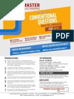 IES Conventional Ques Practice Schedule 2015