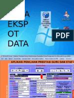 Prestasi 2014 - Cara Ekspot Data