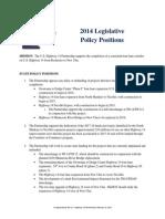 Hwy 14 Partnership 2014 Legislative Policy Positions