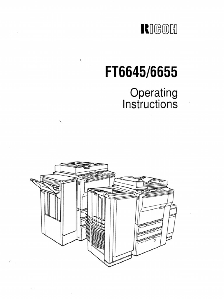Ricoh All in One Printer User Manual for Ricoh Ft6645 All