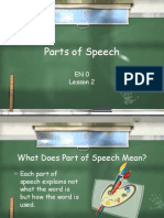 Lesson 2 Parts of Speech