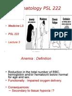 Lec3&4 Anemia