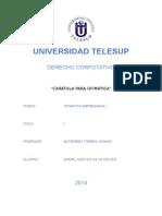 Carátula para organización de cursos