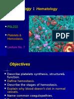 LEC 8 Pletelets & Hemostasis