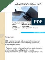 Tatacara penggunaan LCD Projektor.pptx