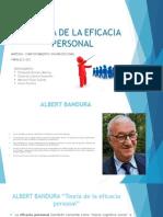 Teoria de La Eficacia Personal de Albert Bandura