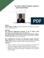 TANZANIA ELECTRIC SUPPLY COMPANY (TANESCO), BOARD OF DIRECTORS PROFILES