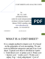 How to Prepare Cost Sheets and Analyse Costs