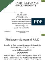 Basic Statistics for Non Commerce Students