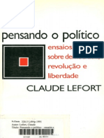 Pensando o Político_democracia, Revolução e Liberdade_lefort