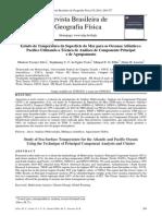 artigo 1Estudo da Temperatura da Superfície do Mar para os Oceanos Atlântico e Pacífico Utilizando a Técnica de Análises de Componente Principal e de Agrupamento