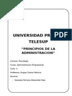 Monografia - Principios de La Administracion