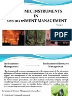 Economic Instruments for Env Mgmt