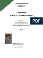 2010 Economic and Management Sciences] School of Management