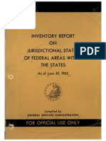 Introduction Inventory Report on Jurisdictional Status of Federal Areas Within the States