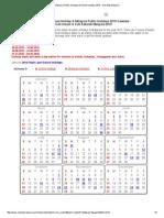 Malaysia Public Holidays & School Holidays 2015 - One Stop Malaysia