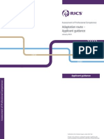 RICS APC Adaptation Route Applicant Guidance