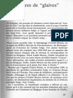 """Extrait de """"Gladio"""" (J. Willems 1991) avec l'annexe intitulée """"Les  amis du chevalier  De  Roover"""""""