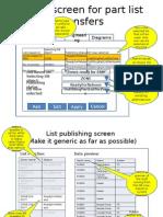 Part List Publishing - Layout and Setup Screen
