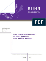 Rural Electrification in Rwanda, Impact Assessment, 2010