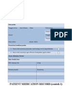 Contoh Patient Medication Record (PMR)