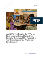 Apr21kindergarten Memories