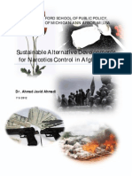 Sustainable Alternatives Development for Narcotics Control in Afghanistan