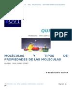 moleculas y tipos de propiedades de las mismas