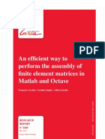An Efficient Way to Perform the Assembly of Finite Element Matrices in Matlab and Octave